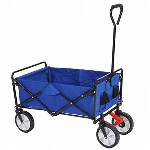 Bollerwagen Mit Bremse : bollerwagen bury faltbar blau mit bremse handwagen transportwagen ebay ~ Orissabook.com Haus und Dekorationen