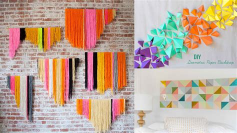 how to interior decorate your home 20 diy geometric wall decorations for a modern