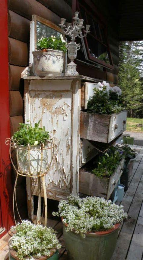 vorgartengestaltung im vintage stil  schicke gartendeko