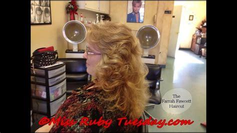 ruby tuesday   give  farrah fawcett haircut
