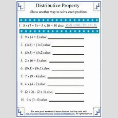 Free Prints, Worksheets And Addition Properties On Pinterest