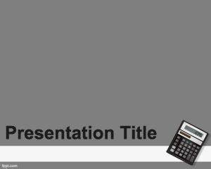 Free Accounting PowerPoint template background with gray ...