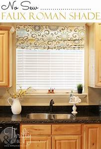 Thrifty and chic diy projects and home decor for Curtains that look like roman shades