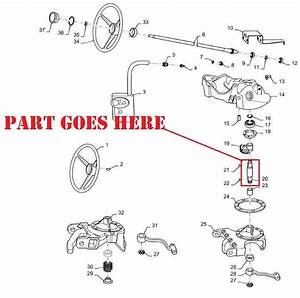New Steering Worm Gear Shaft For Ih Farmall A  Super A