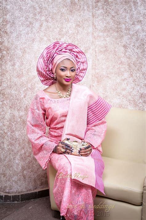 bellanaija bride amina  pink iro  buba amina