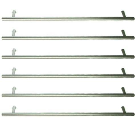 lot de 6 poign 233 es de porte ou tiroir de meuble de cuisine design en inox mat entraxe 128 mm