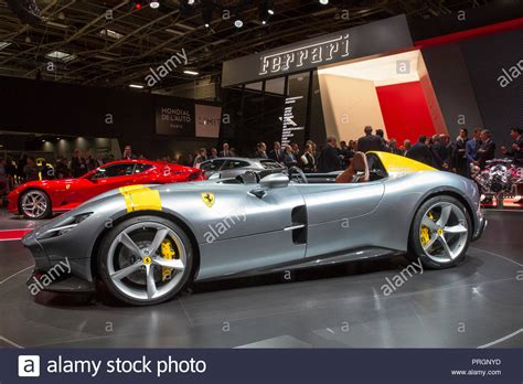 Paris Motor Show Ferrari Stock Photos & Paris Motor Show