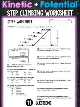 Documents similar to kinetic and potential energy worksheet answer key. Kinetic and Potential Energy Step Climbing Worksheet ...