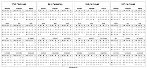 year calendar printable template calendar