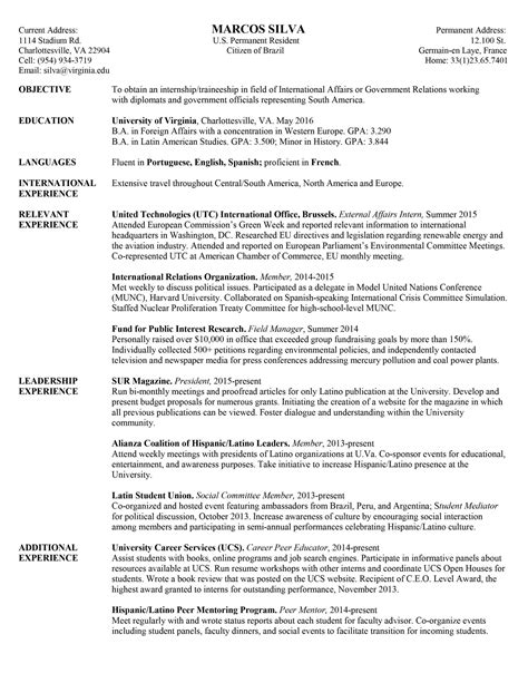 University Student Resume Objective Examples - BEST RESUME EXAMPLES