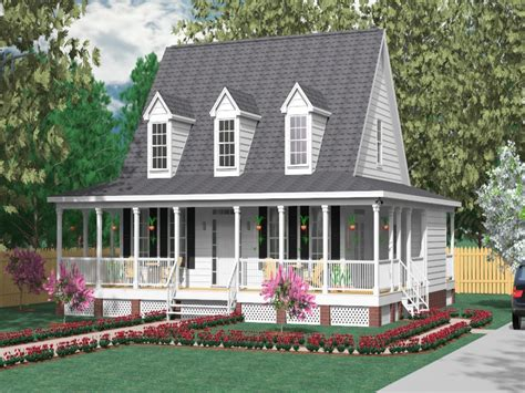 Wrap Around Porch House Plans, Modern Small House Plans