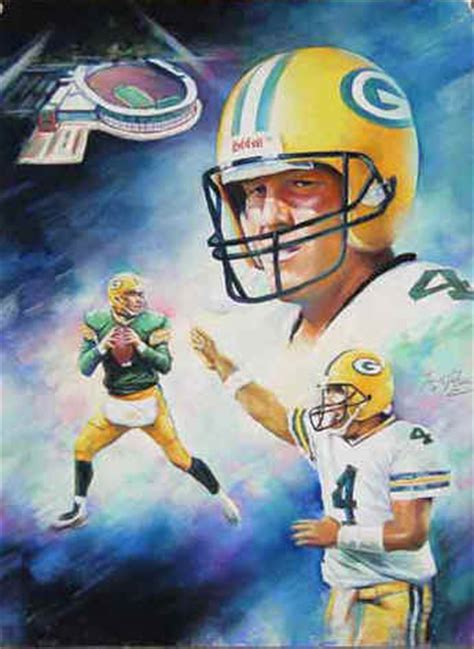 green bay packers brett favre art print poster picture