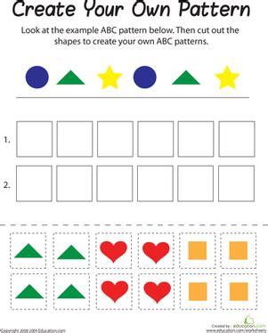 abc pattern worksheets for kindergarten abc pattern worksheet education com