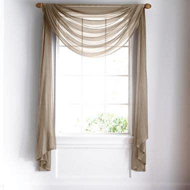 royal velvet 174 chantal sheer scarf valance jcpenney window treatments the floor