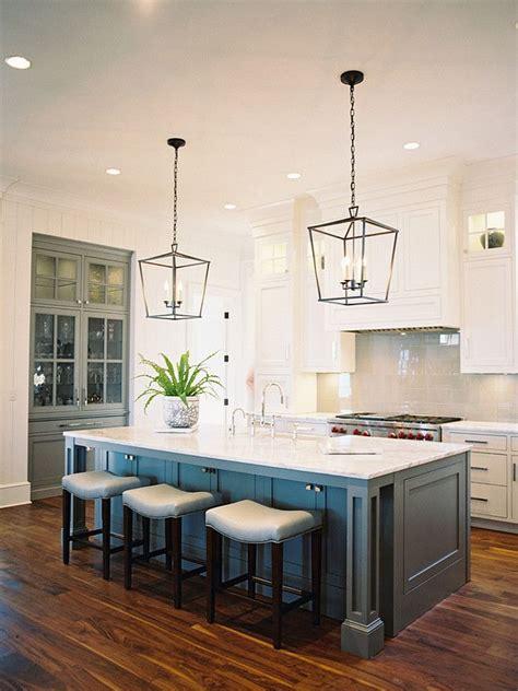 Kitchen Island Light Fixtures Ideas by Coastal House Kitchen With Nautical Lighting