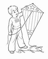 Kite Coloring Kites July 4th Sheets Flying Printable Spring Colouring Boy Fly Drawing Fourth Jesus Flag Children Kid Bestcoloringpagesforkids Independence sketch template