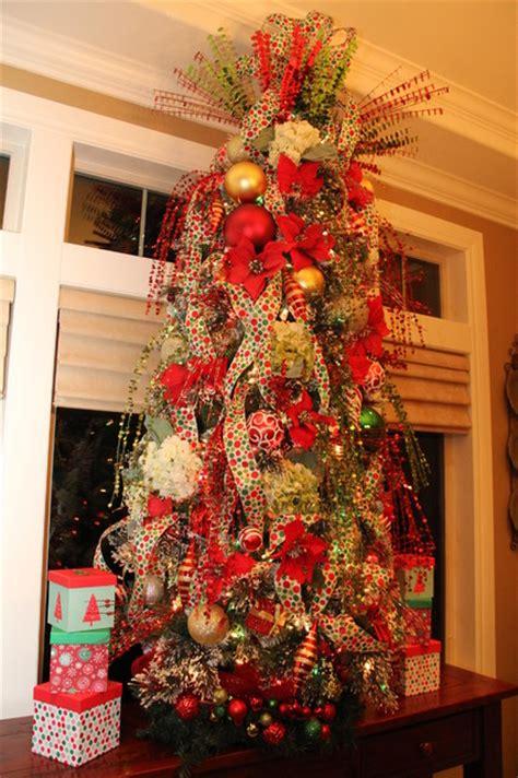 dining room polka dot christmas tree