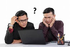 Confused Businessmen Looking At Laptop Stock Photo - Image ...
