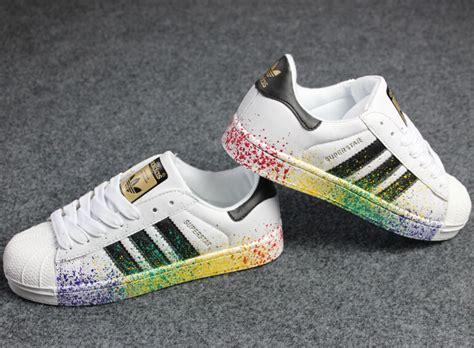 Harga Adidas Superstar jual sepatu adidas superstar splash colour premium miduk