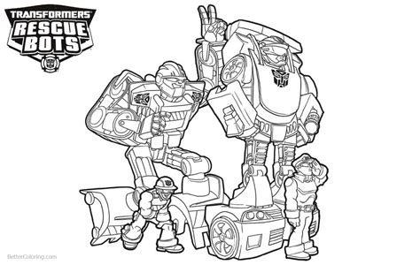 characters  transformers rescue bots coloring pages