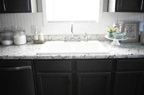 farmhouse sink  white ice formica laminate countertops kitchen countertops replacing