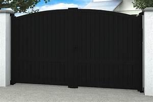 Portail 2 Battants : portail alu 2 battants adelaide cintr plein inclus mat riaux de qualit ~ Melissatoandfro.com Idées de Décoration