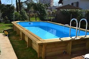 Piscine Semi Enterré Bois : piscine hors sol semi enterre piscine semi enterree bois ~ Premium-room.com Idées de Décoration