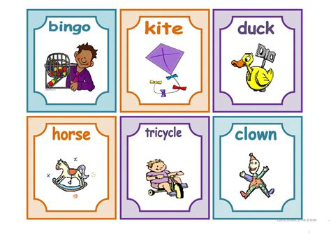 Toys Flashcards Worksheet  Free Esl Printable Worksheets Made By Teachers