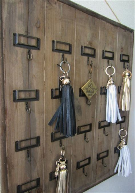 vintage hotel key rack  modern convenience eclectic storage  organization tampa