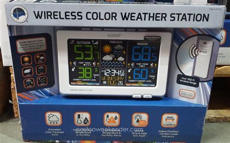 wireless color weather station la crosse wireless color weather station costco weekender