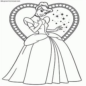 Dibujos Sin Colorear Dibujos De Cenicienta Princesa Disney Para Dibujosparacolorear