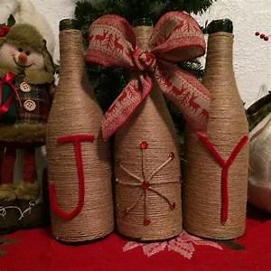 Christmas, Joy, Wine, Bottles