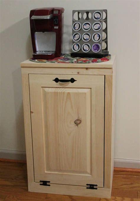 Wood Trash Cabinet by Wooden Tilt Out Trash Can Trash Bin Wood Trash Box