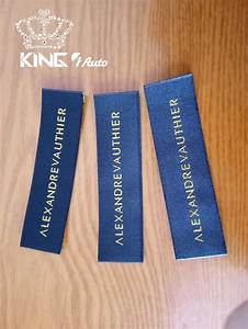 name luxury brand logo woven labels embroidered patch With fabric tags with logo