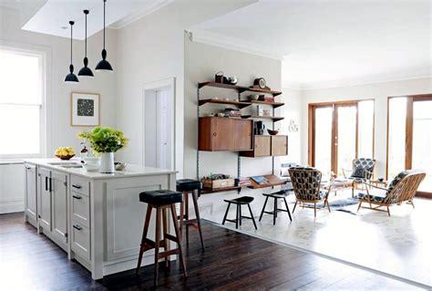 open kitchen  adjoining room interior design ideas