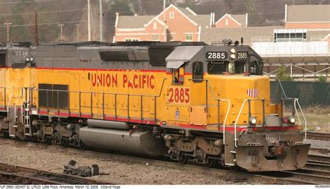UP 2885 (SD40T-2) at Little Rock, Arkansas. March 12, 2006.