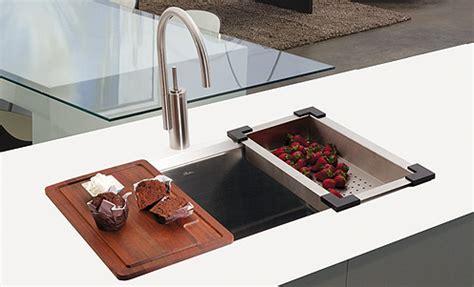 kitchen sink cutting board stainless steel sink w cutting board strainer 5692
