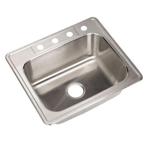 best stainless steel sinks glacier bay top mount stainless steel 25 in 4 hole single