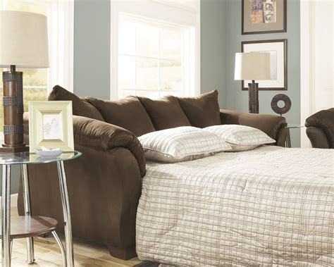 full sleeper sofa with chaise darcy cafe full sofa chaise sleeper from ashley 7500458