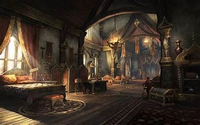 Scrolls Elder Fantasy Interior Anime Castle Rooms