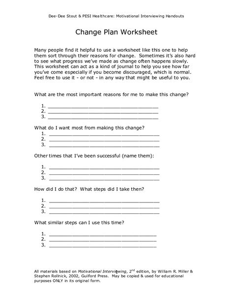 best of motivational worksheets for change behavior change plan worksheet