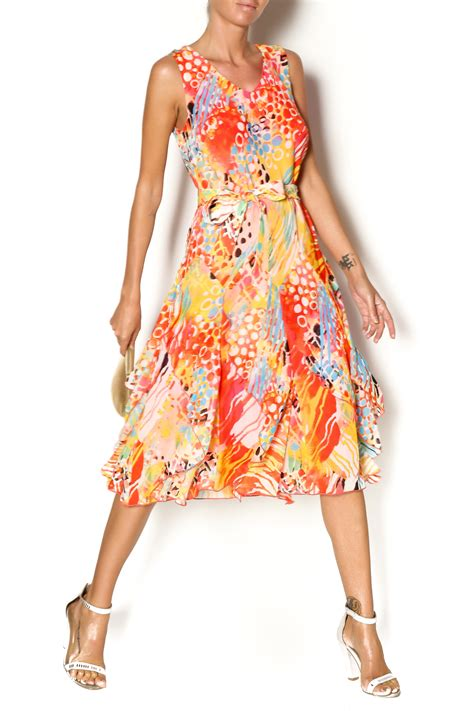 flowy dresses lasania coral flowy dress from worcester by paisley