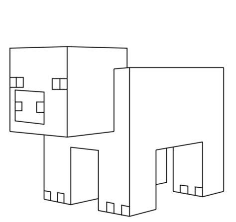 dibujo de cerdo de minecraft  colorear dibujos  colorear imprimir gratis