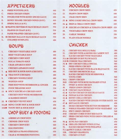 cuisine menu list indus food karachi indus food restaurant menu deals