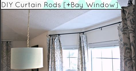 Diy Curtain Rods [sliding Glass Door & Bay Window] Can You Have Eyelet Curtains On A Bay Window Pole Crane Curtain Rods Green And White Polka Dot Double Rod Set Canada Pottery Barn Red Ticking Stripe Shower Navy Blue Uk Another Word For Theater Males