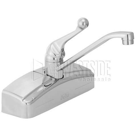 delta 200 wall mount single handle kitchen faucet