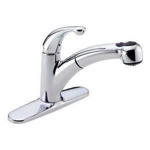 delta palo single handle pull out sprayer kitchen faucet in chrome the home depot canada