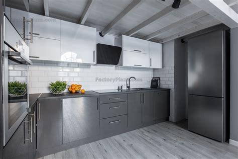Grey Cupboards Kitchen by Acrylic Kitchen Cabinets Granite Countertops Quartz