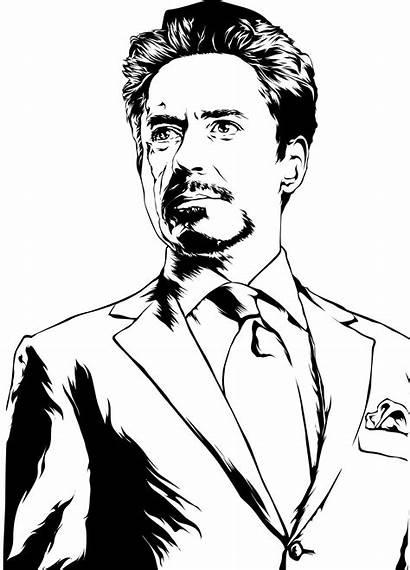 Stark Tony Ironman Coloring Avengers Marvel Iron