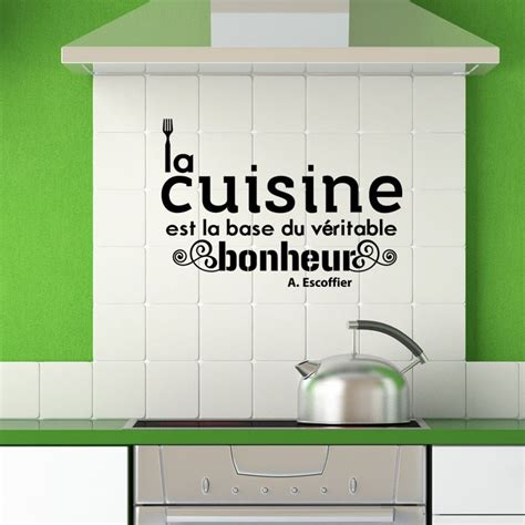 citations cuisine sticker citation cuisine de a escoffier pas cher
